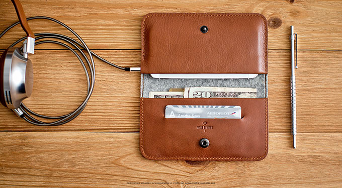 Обзор чехла-бумажника Handwers RANCH для iPhone. Много кожи и чуточку фетра