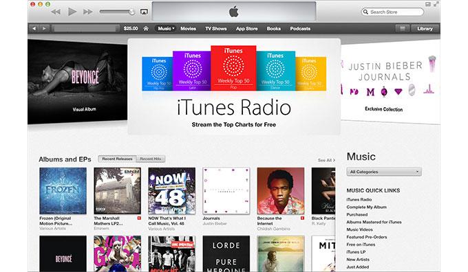 В 2013 году зафиксировано снижение продаж цифровой музыки