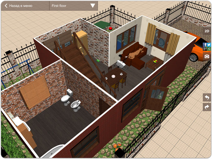 Imi verview of planner5d for Planner casa 3d