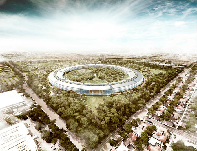Apple Campus 2 приобретает очертания на строительной площадке
