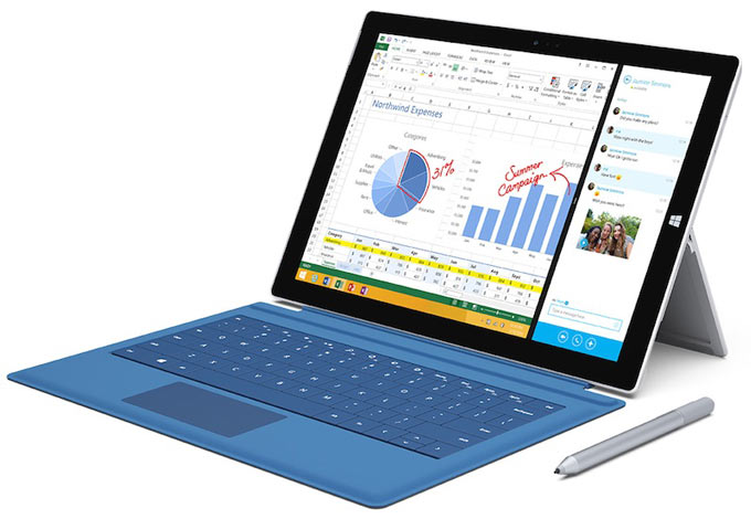 Microsoft представила конкурента MacBook Air – планшет Surface Pro 3