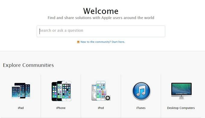 Apple обновила форум технической поддержки