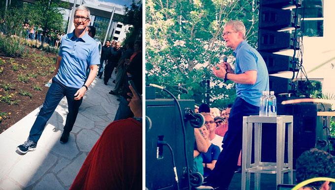Тим Кук и Эдди Кью посетили офис Apple в Остине