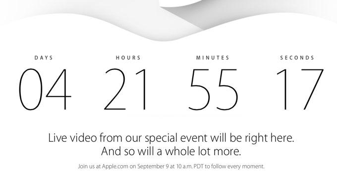 Apple проведет онлайн-трансляцию презентации 9 сентября
