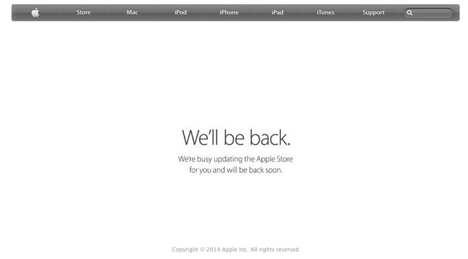 Онлайн-магазин Apple Store закрылся для обновления