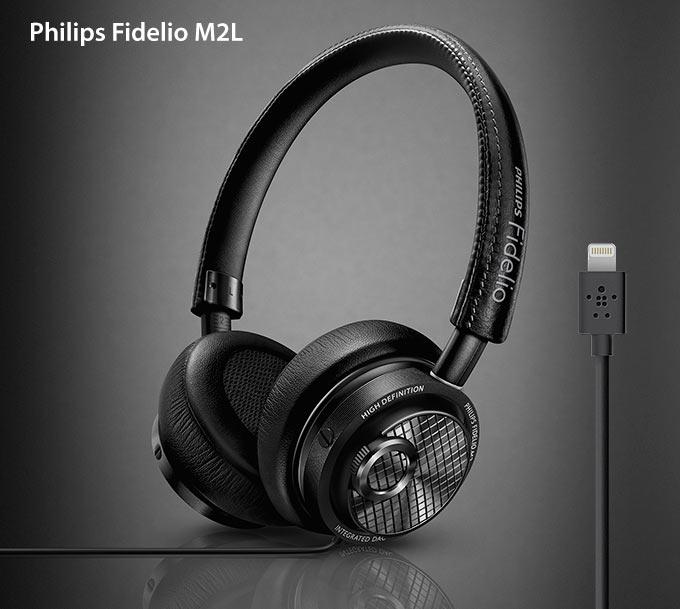 Philips презентовала первые в мире наушники Fidelio M2L с кабелем Lightning