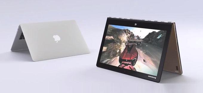 Скрытая камера в поддержку Lenovo Yoga 3 Pro и погнутый MacBook Air