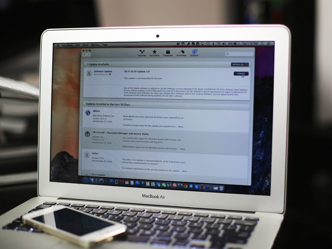 Apple выпустила вторую бета-версию обновления 10.10.2 для OS X Yosemite