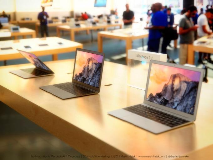 Рендеры 12-дюймового MacBook Air от Мартина Хайека