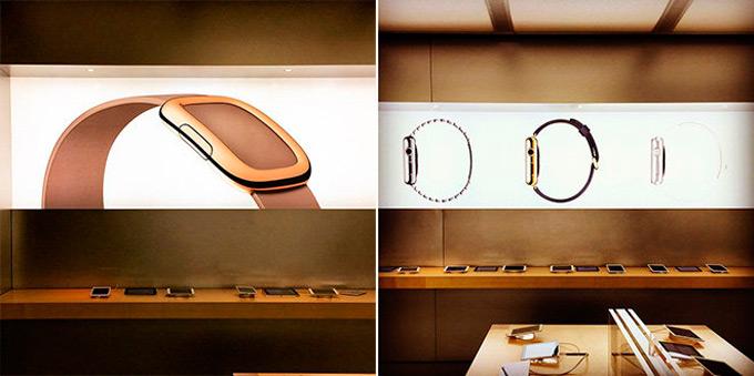 Apple украшает магазины изображениями Apple Watch и MacBook