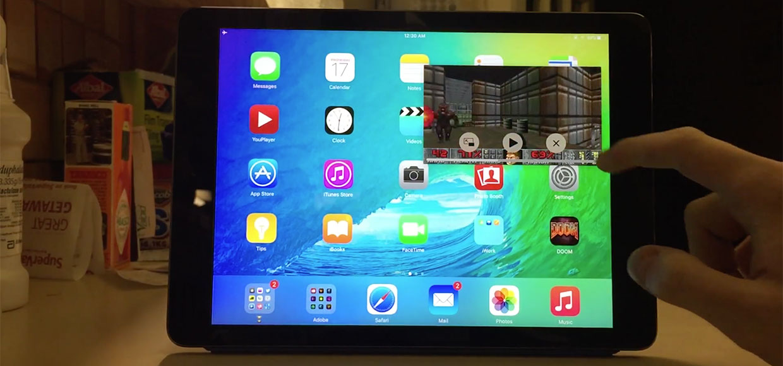 Разработчик запустил Doom в режиме «картинка в картинке» на iPad