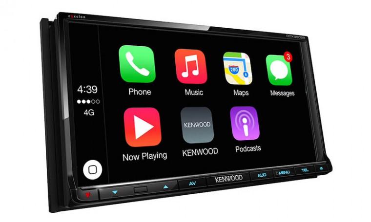 Магнитолы Kenwood с поддержкой CarPlay поступили в продажу