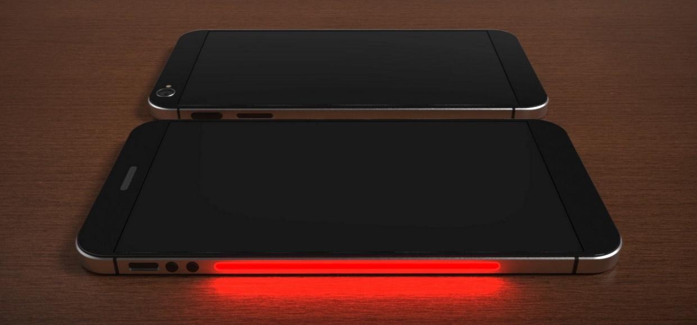 Концепт iPhone 8 с двумя экранами