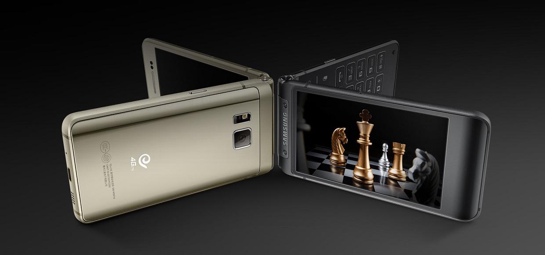 Samsung представила смартфон-«раскладушку» W2016