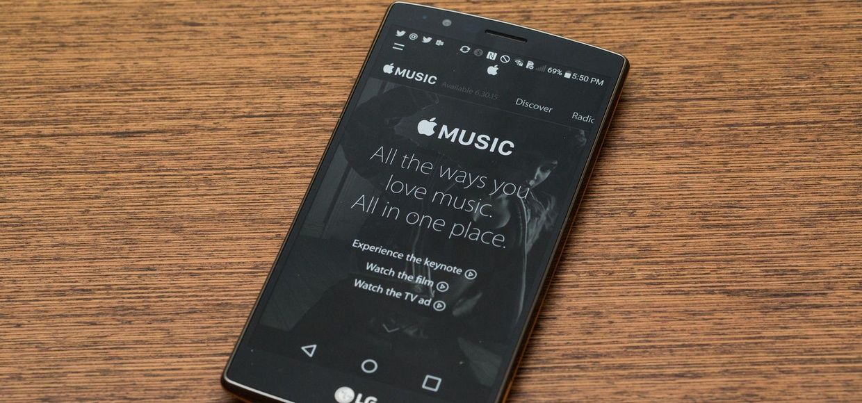 Apple Music вышла на Android