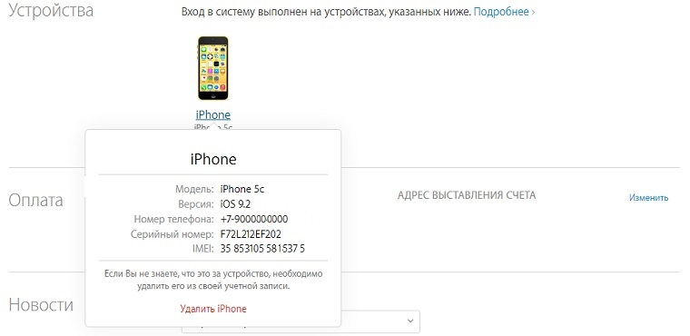 Apple ID Site iPhone