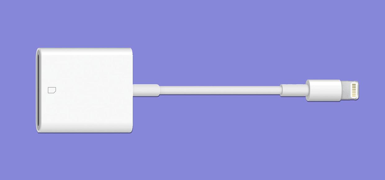 Адаптер Lightning для чтения SD-карт появился в Apple Store