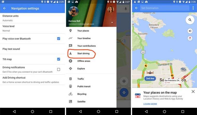 Google-maps-drive-mode