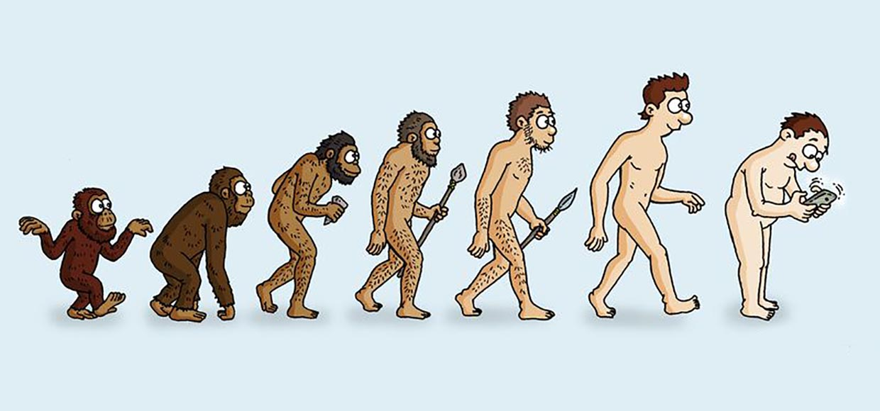 a look at the various theories explaining the evolution of man