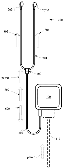 Apple-patent-magnetically-detachable-earbuds-for-iPhone-drawing-001