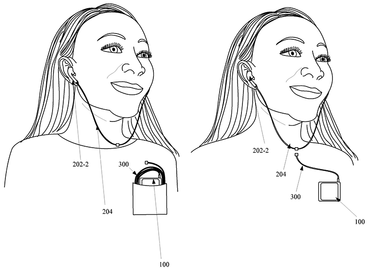 Apple-patent-magnetically-detachable-earbuds-for-iPhone-drawing-002