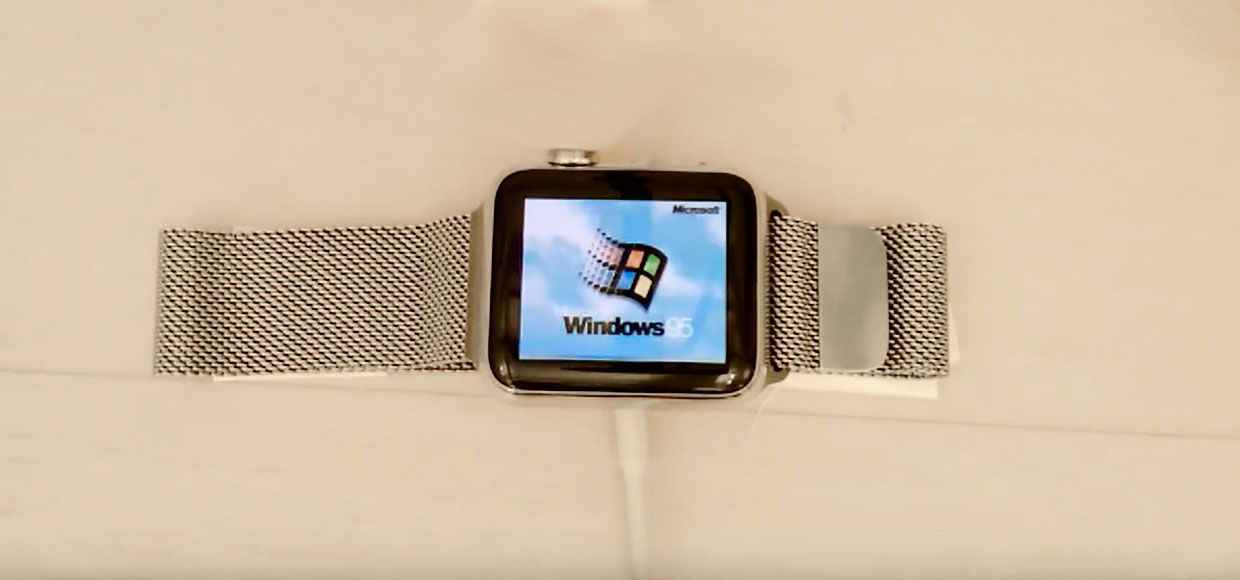 Windows 95 запустили на Apple Watch
