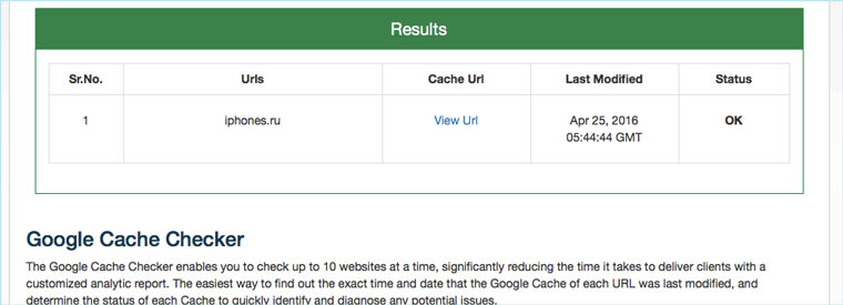 google_cache_checker