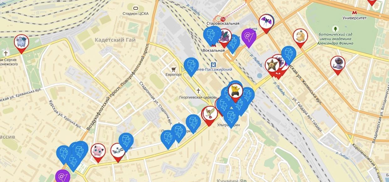 Как за три дня сделать карту, которая поможет поймать всех покемонов в России
