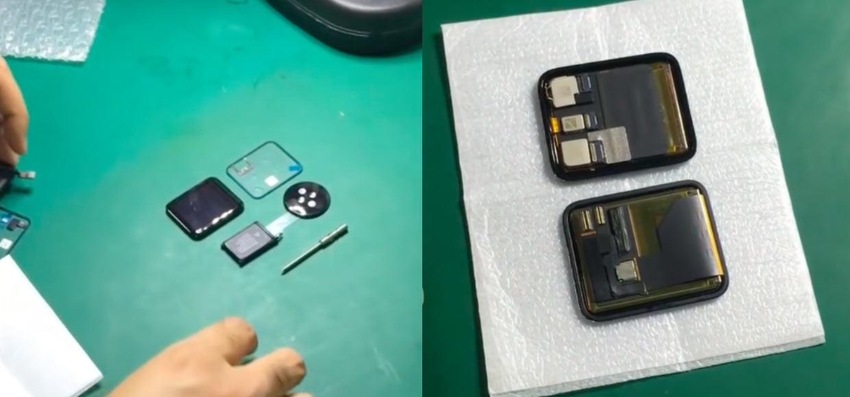 На видео показали дисплей и аккумулятор от Apple Watch 2