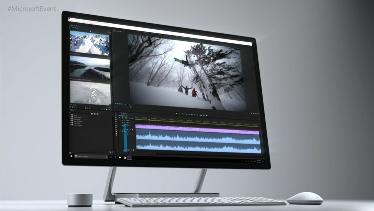 Microsoft представила Surface Studio. Как iMac, но не iMac