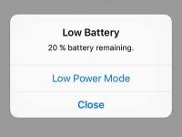 Как вернуть сообщения о разряде аккумулятора на iOS?