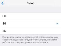 Как отключить голосовые вызовы по 2G на iPhone?