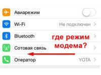 Что делать, если пропал режим модема на iPhone?