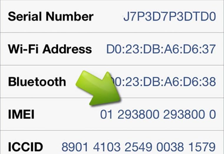 iPhone-IMEI-number