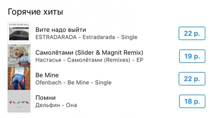 Apple увеличил цены намузыку в русском магазине iTunes Store