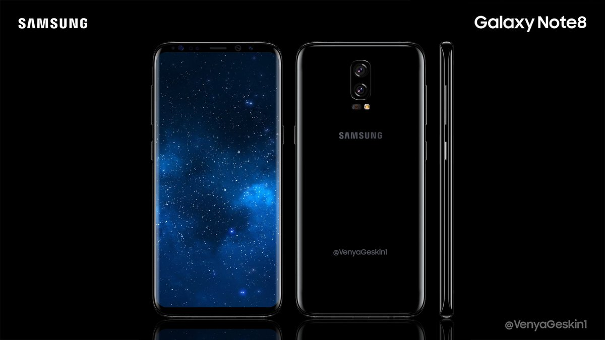 Появилось официальное изображение Samsung Galaxy Note8