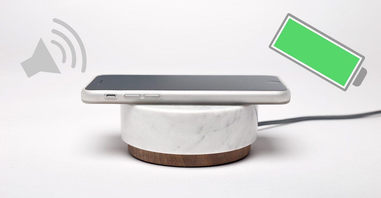 Oree Pebble — беспроводная зарядка-колонка для iPhone
