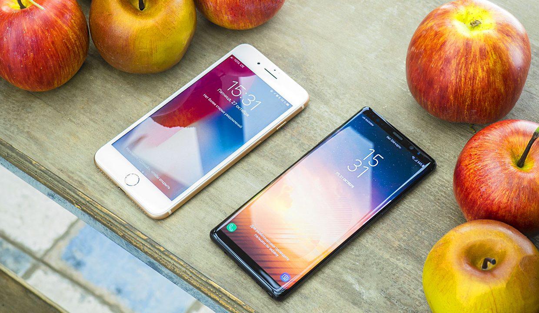 Чей дисплей решает? Samsung Galaxy Note8 против iPhone 8 Plus