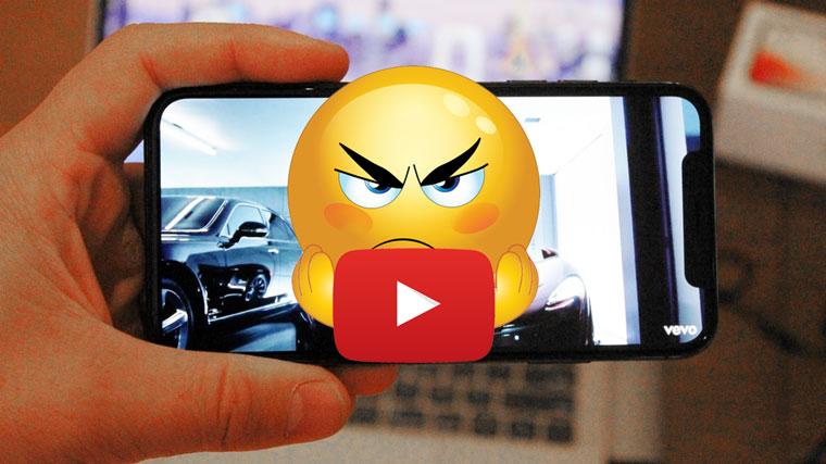 Официальный клиент YouTube стремительно разряжает аккумулятор айфона