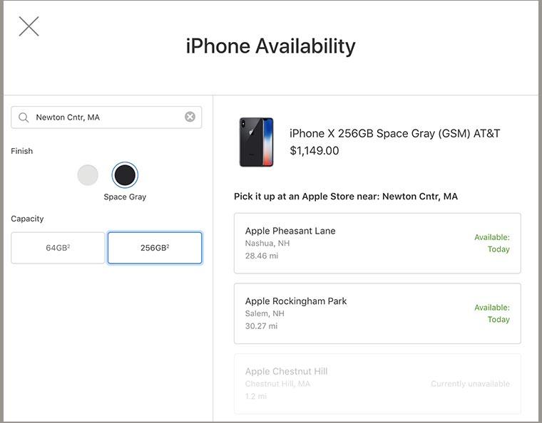5bce1da05 Например, на текущий момент в некоторых штатах смартфон в максимальной  комплектации можно купить прямо с полки в 2-х розничных магазинах Apple в  городе ...