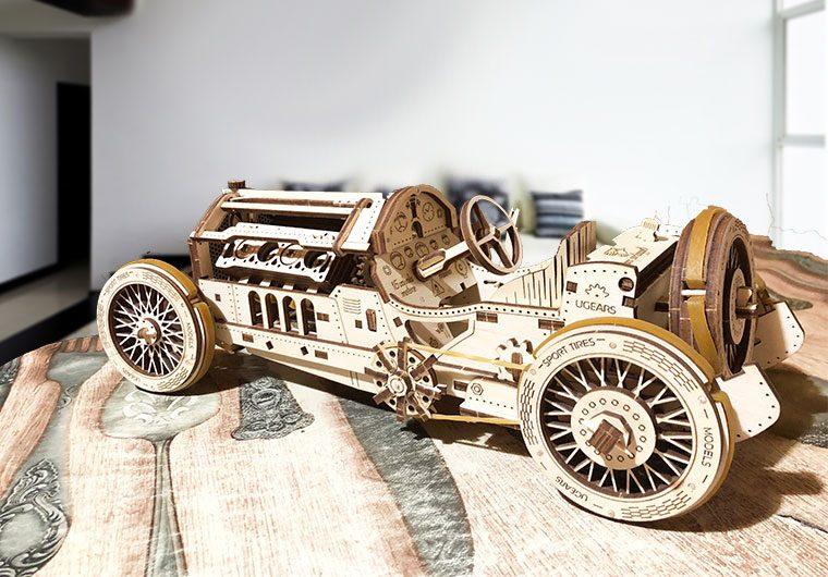 деревянная спортивная машина