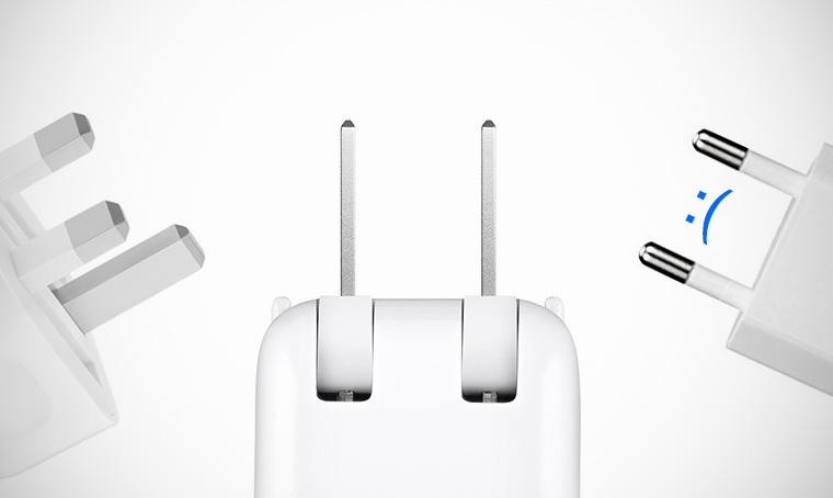 Почему Apple не делает для России складной штекер зарядки?
