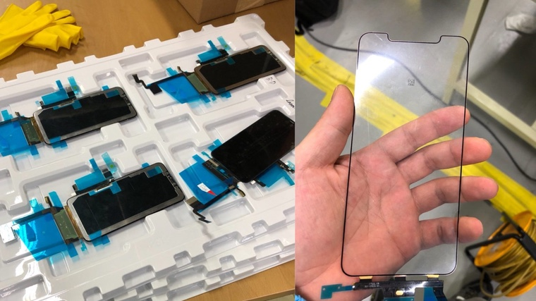 Появились первые фотографии дисплеев iPhone X Plus