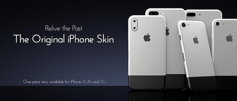 Наклейки ColorWare превращают iPhone X в самый первый iPhone