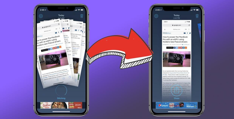 Как сделать длинный скриншот на iPhone
