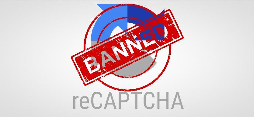 Роскомнадзор заблокировал капчу Google в России
