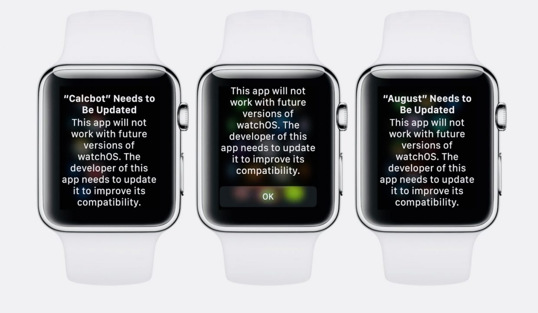 watchOS 5 не будет поддерживать старые приложения