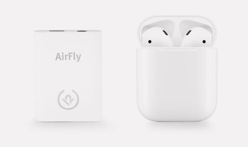 Twelve South представила гаджет AirFly, позволяющий слушать AirPods в самолёте