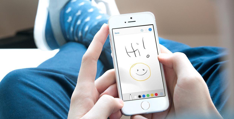 Как добавить рукописную заметку в письмо на iPhone