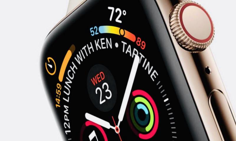 Появилось фото фронтальной панели Apple Watch Series 4